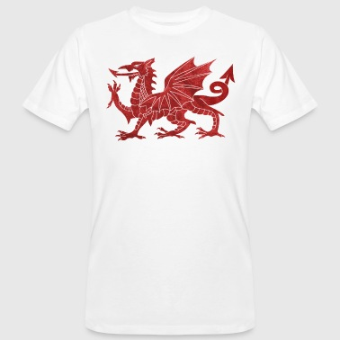 Welsh Red Dragon - Men's Organic T-shirt