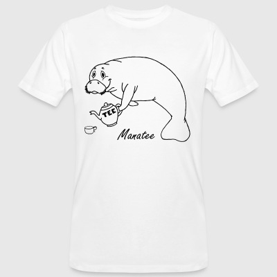 Manatee likes tea - Men's Organic T-shirt
