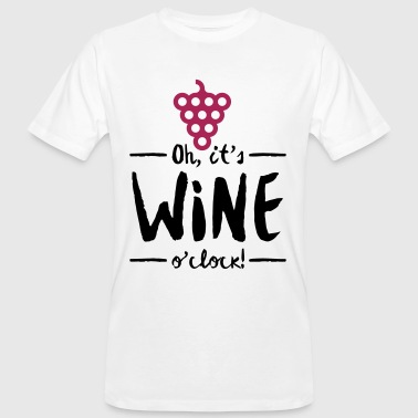 Het is Wine Time - Mannen Bio-T-shirt