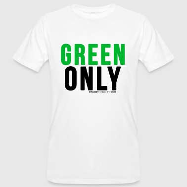 GREEN ONLY Strain No.1 WHITE - Männer Bio-T-Shirt