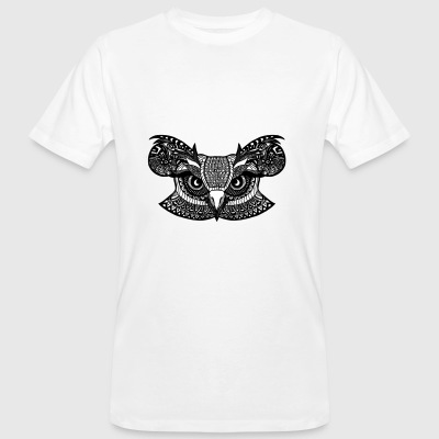 Zentangle Owl - T-shirt ecologica da uomo