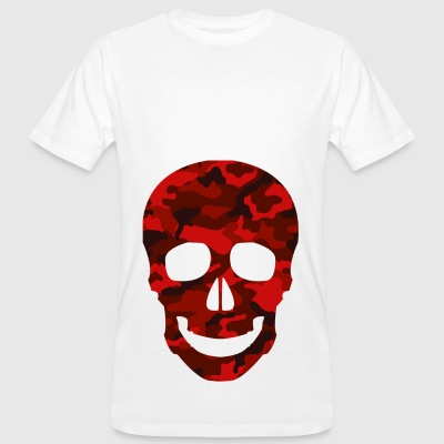 RED SKULL CAMO TEES - Men's Organic T-shirt