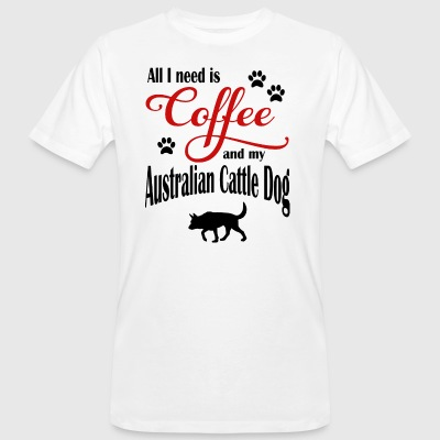 Australie Cattle Dog Café - T-shirt bio Homme