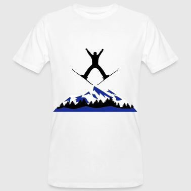 ski and mountain, ski jumping - Men's Organic T-shirt