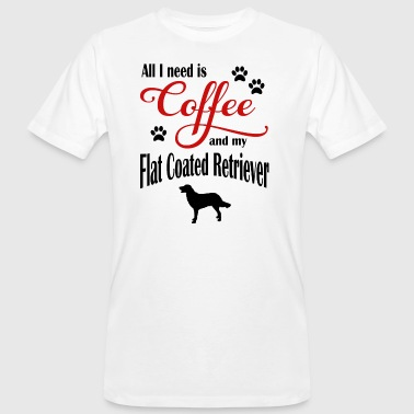 Flat-Coated Retriever Café - T-shirt bio Homme