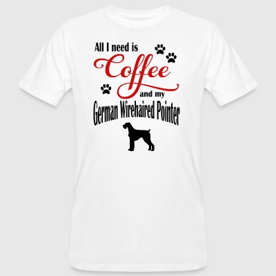 English Wirehaired Pointer Coffee - Men's Organic T-shirt