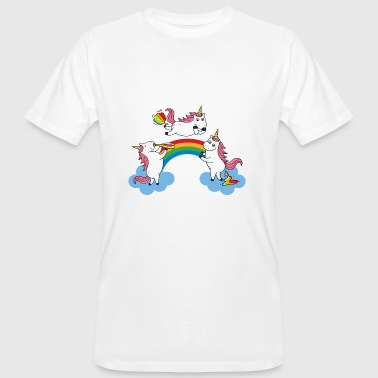 Crawling Pooping Farting Unicorn - Men's Organic T-shirt