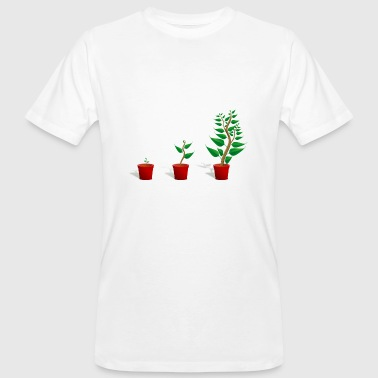 Plant growth - Men's Organic T-shirt