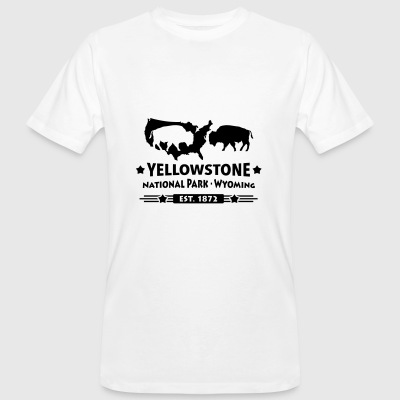 Bison Buffalo Yellowstone National Park Wyoming USA - Ekologisk T-shirt herr