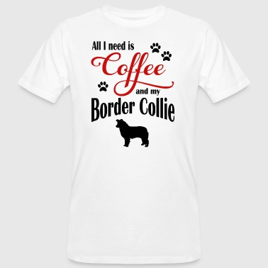 Border Collie Coffee - Ekologisk T-shirt herr
