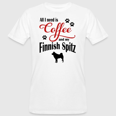 Finnish Spitz Coffee - Men's Organic T-shirt