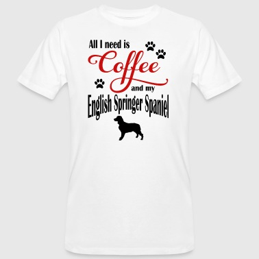 English Springer Spaniel Coffee - Men's Organic T-shirt