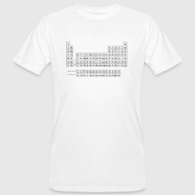 Periodic Table nero - T-shirt ecologica da uomo