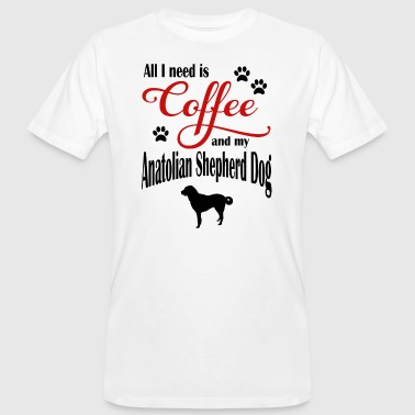 Anatolia Shepherd Dog Coffee - Ekologisk T-shirt herr