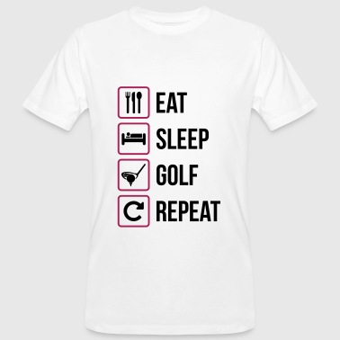 Eat Sleep Golf Répéter - T-shirt bio Homme