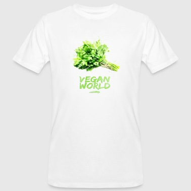 VEGAN WORLD - Petersilie - Männer Bio-T-Shirt