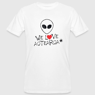 WE LOVE AOTEAROA (New Zealand) - ALIEN - Männer Bio-T-Shirt