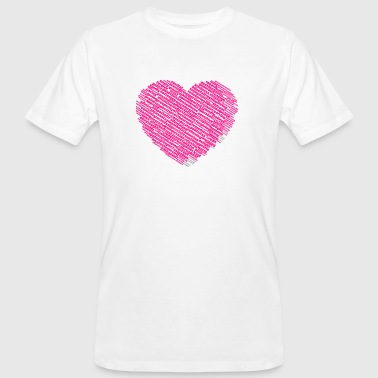 Heart shape of loving, warm and nice words cloud - Men's Organic T-shirt