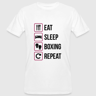 Eat Sleep Boxing Repeat - Men's Organic T-shirt
