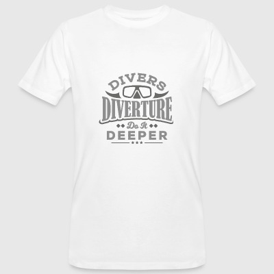 DIVERTURE Divers do it deeper - Männer Bio-T-Shirt