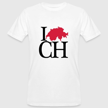 I love CH - I love Switzerland - Men's Organic T-shirt
