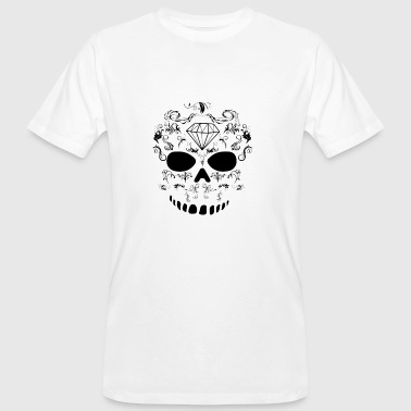Skeleton pattern, Skull template - Men's Organic T-shirt