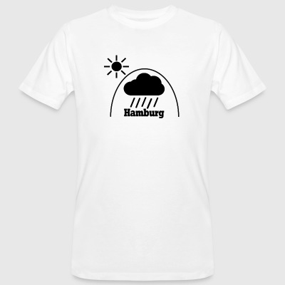 Hamburg Regen under the dome - Männer Bio-T-Shirt