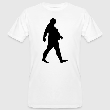 Fat man running - fat - of whom are obese obese-Dick - Men's Organic T-shirt