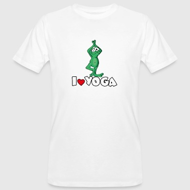 The Yoga Frog loves the position of the tree - Men's Organic T-shirt