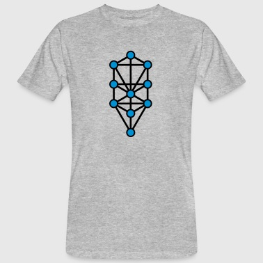 Tree of Life, Sephiroth, Creation Levels, Kabbalah - Men's Organic T-shirt
