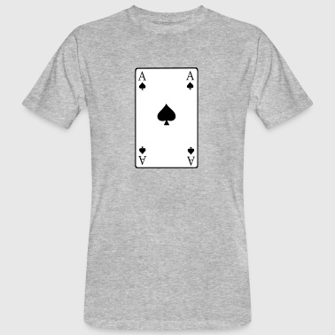 Pik Ass Pokerkarte - Männer Bio-T-Shirt