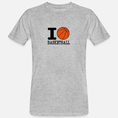 Basket I Love Basketball I love basketball / I love basketball - Men's Organic T-Shirt