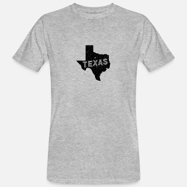 State Motto Texas Motto and Vintage Nickname - Men's Organic T-Shirt