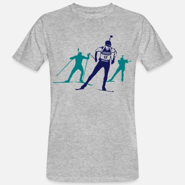 Cross Country Skiing Biathlon - cross country skiing - skiing - ski - Men's Organic T-Shirt