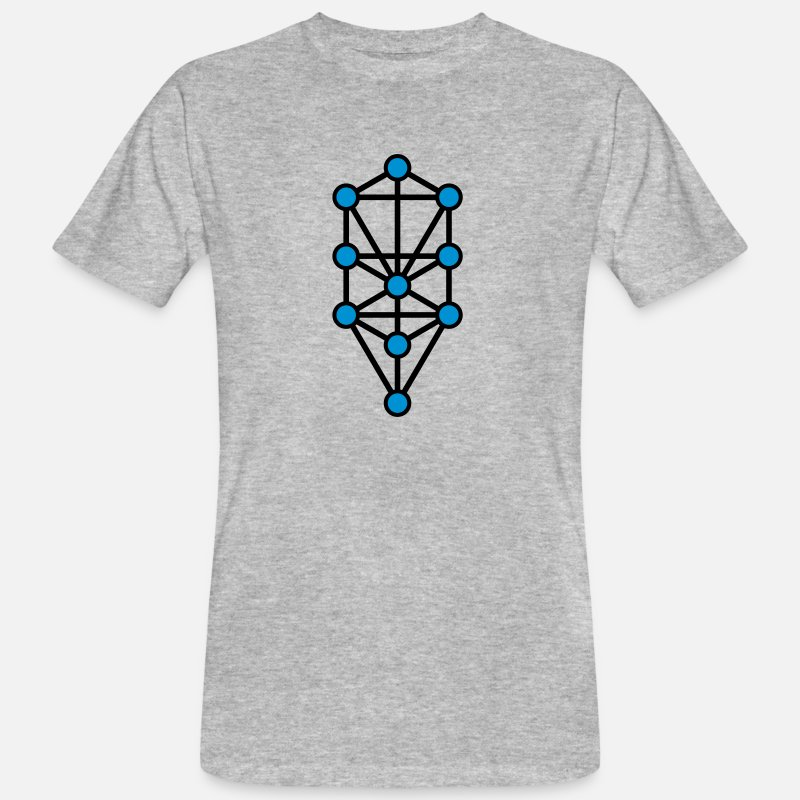 Egypt Esoteric Mystic T-Shirts - Tree of Life, Sephiroth, Creation Levels, Kabbalah - Men's Organic T-Shirt heather grey