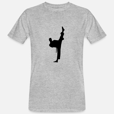 Vêtement Olympe Kung fu fighter silhouette - T-shirt bio Homme