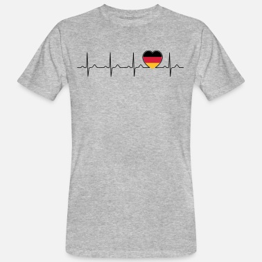 Germania Tyskland flagga heartbeat - nation - Tyskland - Ekologisk T-shirt herr