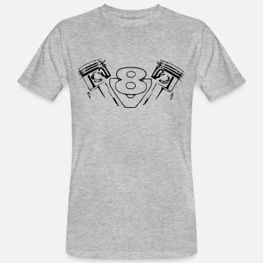 89bbe802d3053 Motor Motor v8 - Camiseta orgánica hombre