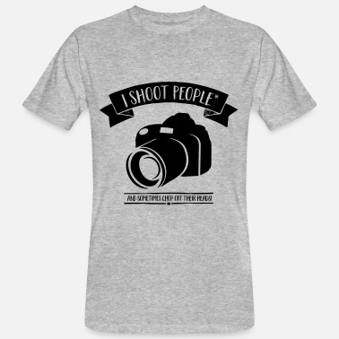 Head Shot I shoot People -  and Chop off Heads - Fotograf - Mannen Bio-T-shirt