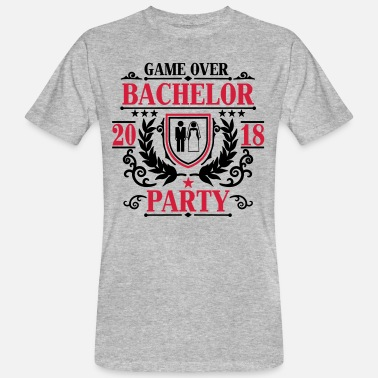2018 Bachelor Party Game over 2018 -JGA Party-Bräutigam - T-shirt ecologica da uomo