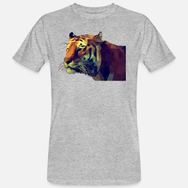 Polygon Illustration Tiger Polygonen - Männer Bio-T-Shirt