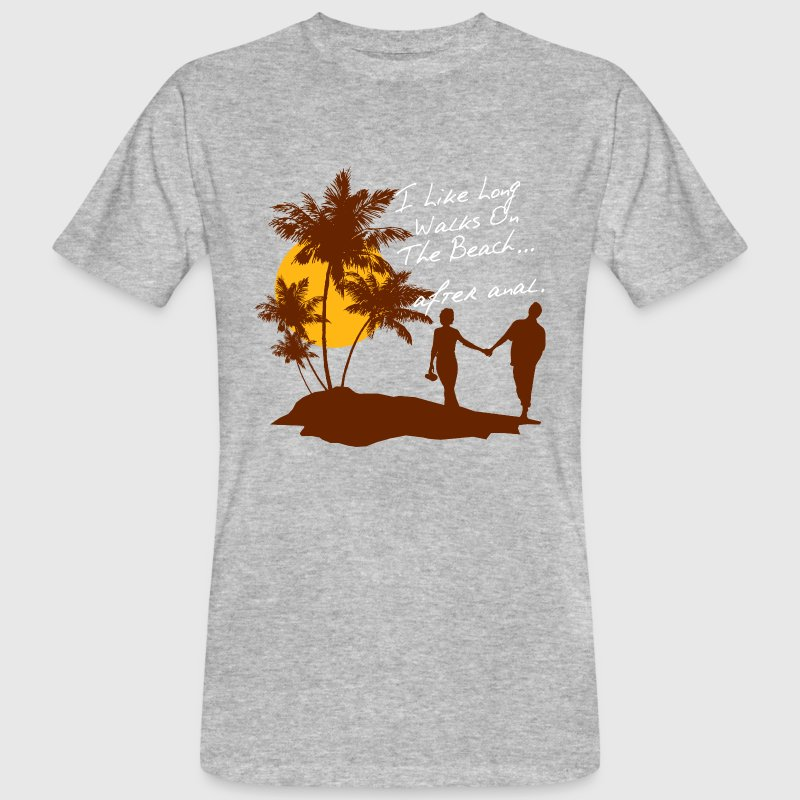 BEACH WALKS AFTER ANAL - Männer Bio-T-Shirt