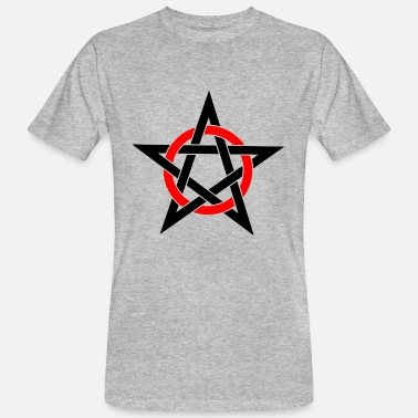 Esoterism Magic Pentagram Drudenfuß Witch Pagan Witch Esoteric - Men's Organic T-Shirt
