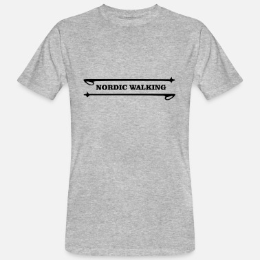 Walking Stick NORDIC WALKING with walking sticks - Men's Organic T-Shirt