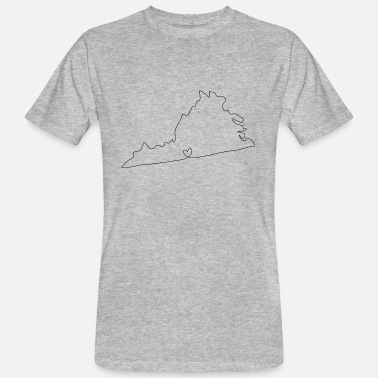 Virginia Beach VIRGINIA coeur - T-shirt bio Homme