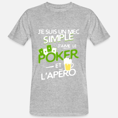 Pokerface Poker - un mec simple - T-shirt bio Homme