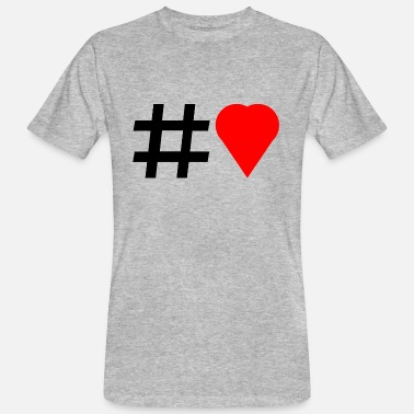 Hashtag Love Hashtag Love - Men's Organic T-Shirt