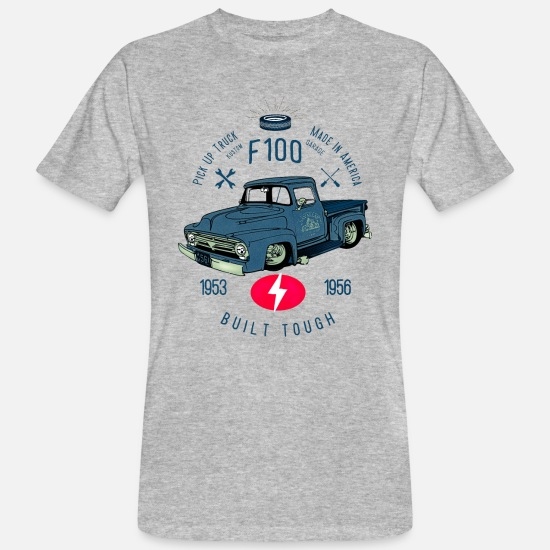 Bikes T-Shirts - F100 Built Tough - Männer Bio T-Shirt Grau meliert
