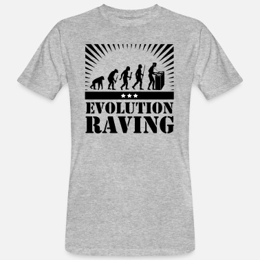 Raving Evolution Raving - Männer Bio-T-Shirt