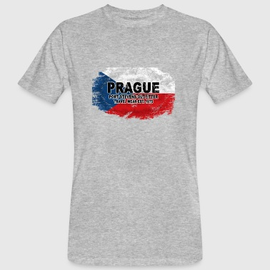 Prague - Czech Republic Flag - Männer Bio-T-Shirt